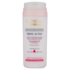 LOREAL Triple Active - čistící pleťové mléko - 200ml - suchá a citlivá pleť