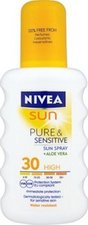 Nivea Sun Pure & Sensitive sprej na opalování SPF 30 200 ml