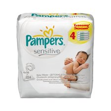 Pampers wipes sensitive náplň 4x56