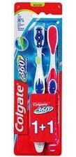 Colgate 360° Whole Mouth Clean střední zubní kartáček 1+1 zdarma