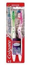 Colgate Max White střední zubní kartáček 1+1