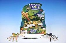Pavouk plast pohyblivé nohy 7x16cm asst 4 barvy