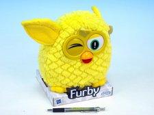 Furby plyš 20cm žlutý na podstavci