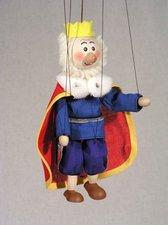 Loutka Král modrý s pláštěm 20 cm