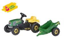 Rolly Toys Šlapací traktor Rolly Kid s vlečkou - zelený