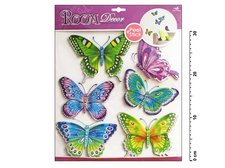 Samolepící dekorace 678 modrozelenení motýli