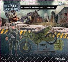 Plastica Bomber Fred & Motorbike