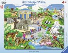 Puzzle Ravensburger  Návštěva v ZOO 30-48 Dílků