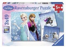Puzzle Ravensburger Ledové království 3 x 49 Dílků