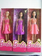 Barbie - Barbie v třpytivých šatech ASST