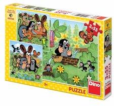 Puzzle Krtek a zvířátka 3x55D