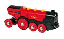 Brio - Mohutná elektrická červená lokomotiva se světly