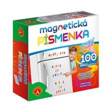 Magnetická písmenka na lednici 100 dílků v krabici