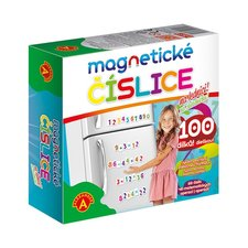 Magnetické číslice na lednici 100 dílků v krabici
