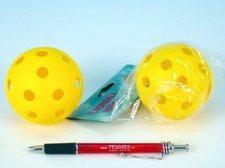 Floorball míč plast průměr 7,5cm asst 2 barvy v sáčku