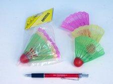 Badmintonové míčky plast 3ks v sáčku