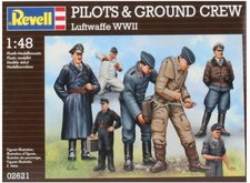 Revell 1:48 02621 Plastové figurky Pilots + Ground Crew German Air Force WWII