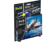 Revell 1:72 63953 model letadla Spitfire Mk. IIa - ModelSet, včetně barev a lepidla