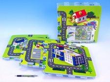 Wiky Pěnové puzzle Město 32x32cm 9ks v sáčku od 10 měsíců