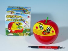 Pokladnička jablko 16x10cm asst 2 barvy
