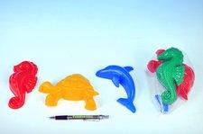 Formičky na písek zvířátka asst 3ks v síťce - 2 druhy