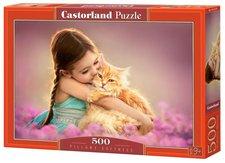 Castorland Puzzle Holčička s koťátkem 500 dílků