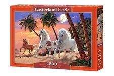 Castorland Puzzle Bílí koně 1500 dílků