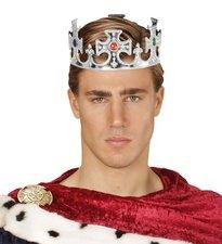 Stříbrná královská koruna