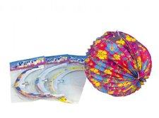 Wiky Lampion koule 25cm asst 4 barvy v sáčku karneval