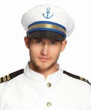 Modro-bílá kapitánská čepice
