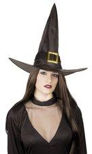 Černý čarodějnický klobouk s přezkou