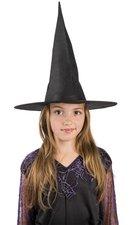 Černý čarodějnický latkový klobouk pro děti