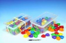 Kostky Puzzle plast 120ks v plastovém boxu Wader