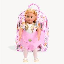 """Battat """"Hop a jdeme"""" - batůžek s klokankou na panenku"""
