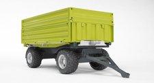 Bruder 02203 - Třístranný sklápěcí zelený vůz Fliegl