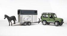 Bruder 02592 - Land Rover s  přepravníkem na koně