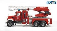 Bruder 02821 - Nákladní auto Mack Granit s požárním žebříkem