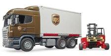Bruder 3581 Logistická Scania R UPS s vysokozdvižným vozíkem