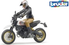BRUDER 63051 motocykl Scrambler Ducati Desert Sled + figurka