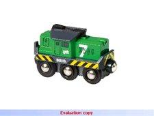 Elektrická lokomotiva zelená