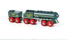 Rychlý šedý vlak s vagonem