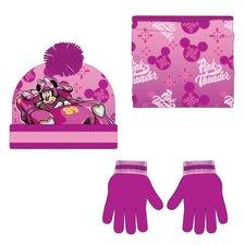 Zimní set-čepice, nákrčník, rukavice Minnie