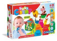 Clementoni Clemmy baby - kostičky s knížkou, hospodářská zvířata