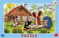 Puzzle Krteček na návštěvě 15d