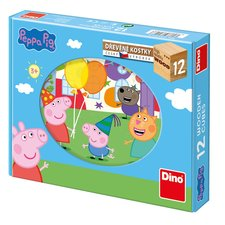 DINO dřevěné kostky Peppa Pig 12K