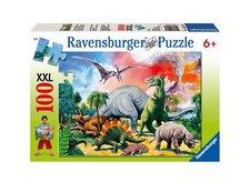 Puzzle Ravensburger - Mezi dinosaury 100 XXL