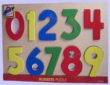 "Woody Puzzle na desce ""Číslice s beruškami"""