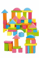 Woody Kostky barevné pastelové 75 dílů