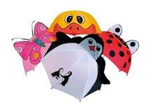 Dětský deštník zvířátka, 4 druhy, délka 56cm