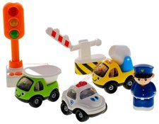 Sada autíček - policista a mechanik
